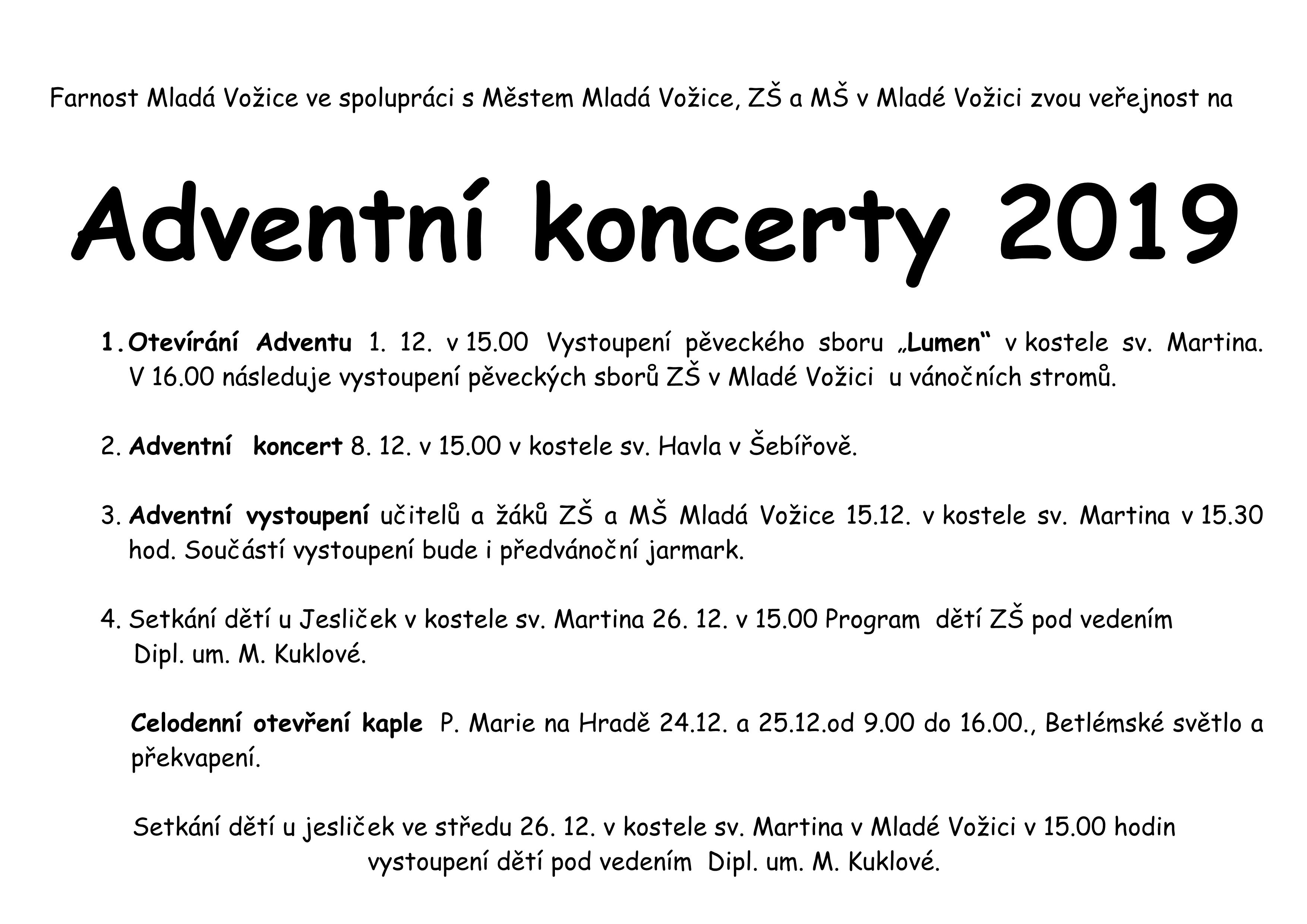 Adventní koncerty  2019