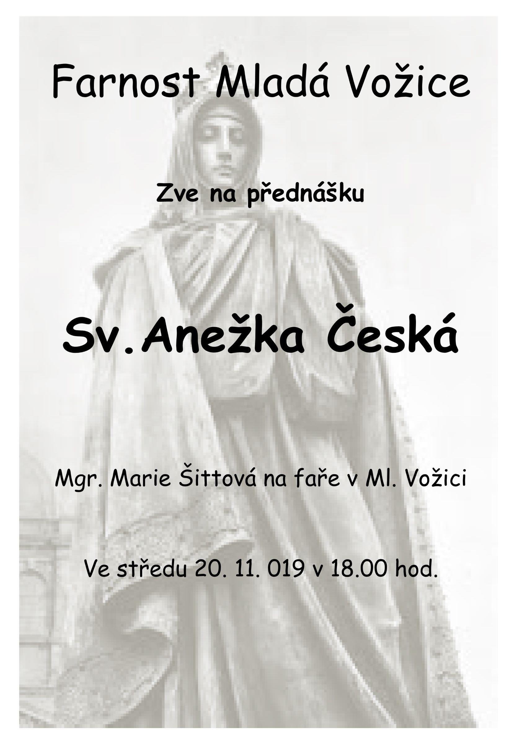 Přednáška o sv. Anežce České