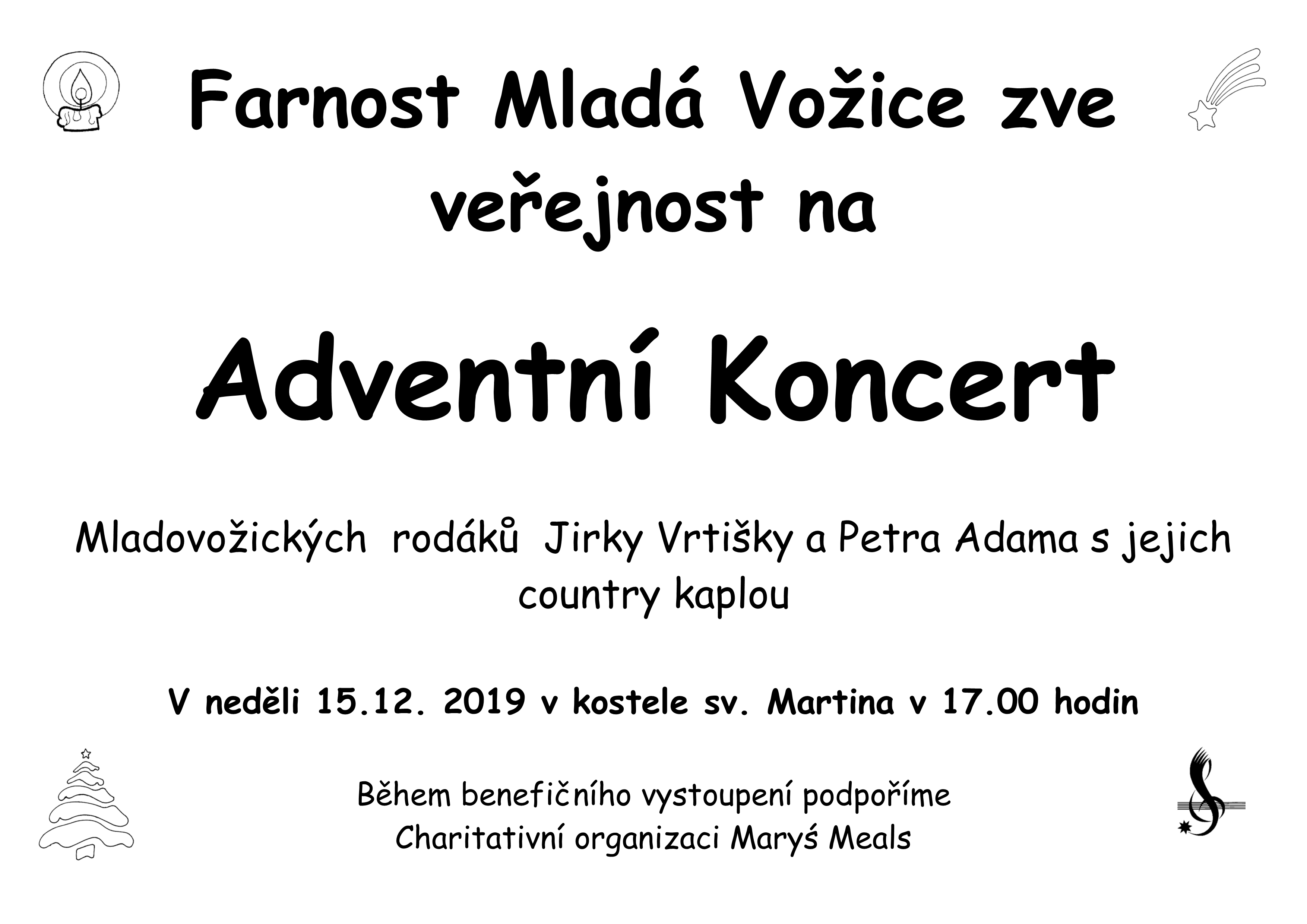 Adventní koncert podpora Maryś Meals