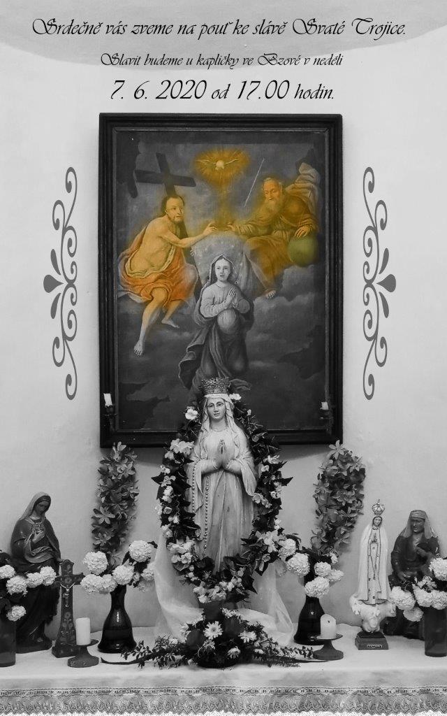 Mše sv. v kapli ve Bzové