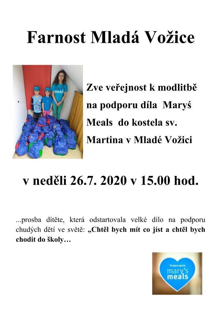 Pozvánka na podporu Maryś Meals