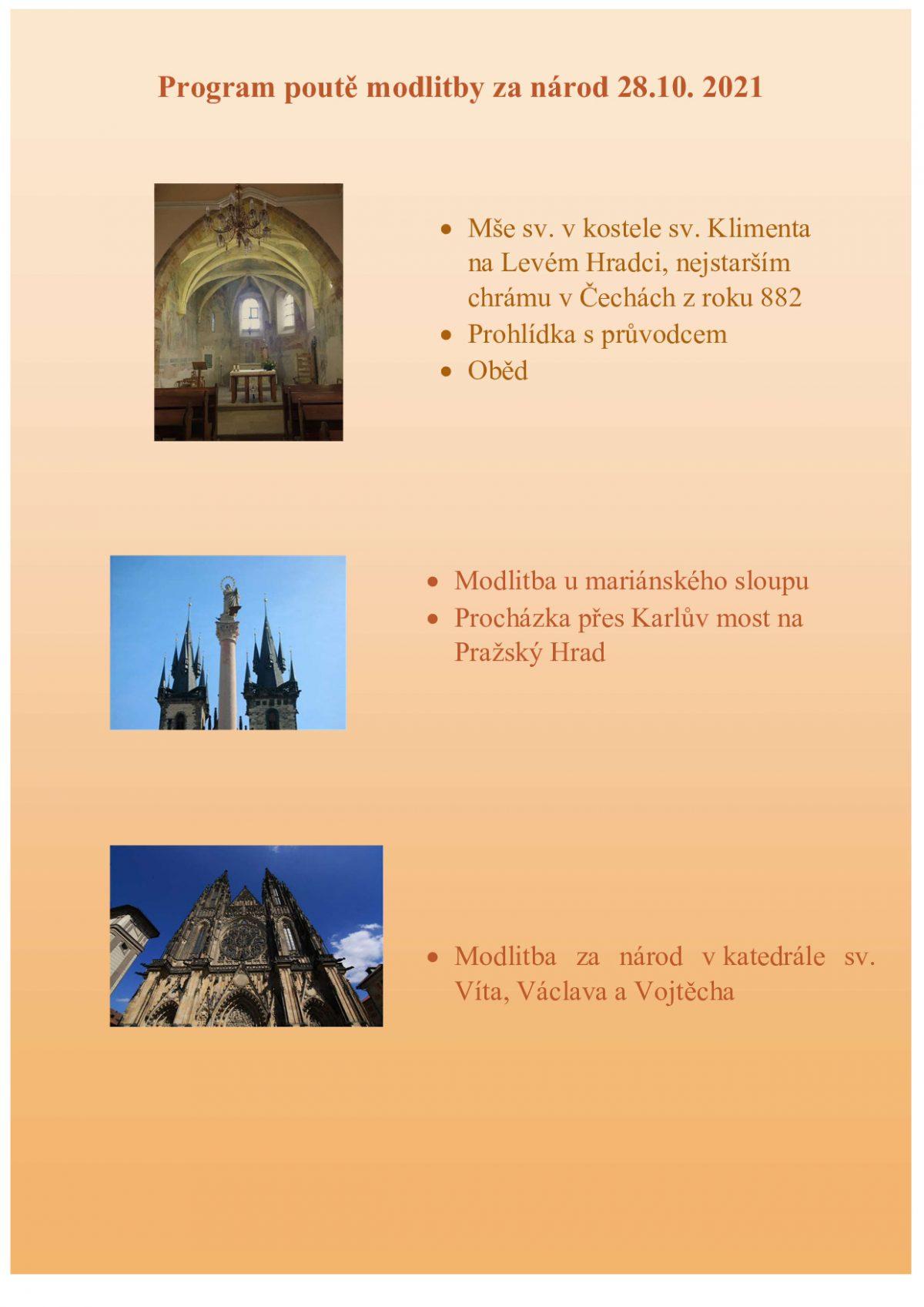 Program poutě ke sv. Ludmile
